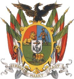 Coat-of-arms of the Zuid-Afrikaansche Republiek (Transvaal ) South African Flag, South Afrika, History Online, African History, Coat Of Arms, Tree Branches, Vintage Posters, Childhood Memories, Herb