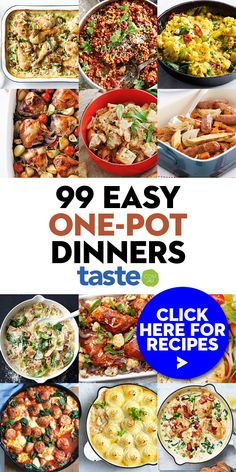 Healthy One Pot Meals, Easy One Pot Meals, Easy Dinner Recipes, Easy Recipes, Dinner Ideas, One Pot Dinners, Lunches And Dinners, Cookbook Recipes, Cooking Recipes