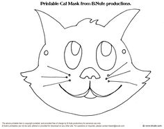 Printable Halloween Masks by B.Nute productions Remember the craft activities you did at your school Halloween party in elementary school. Animal Mask Templates, Printable Animal Masks, Creative Activities For Kids, Art Activities, Cat Coloring Page, Coloring Pages, Printable Halloween Masks, Elephant Applique, Applique Templates