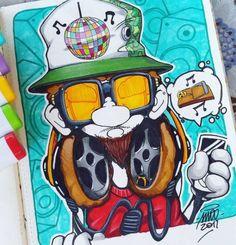 h o l i d a y s   s k e t c h e s   p t 2 • t r a p   l o v e r   b o y •  #maddpencil #ladybug #sketch #sketchoftheday #trap #trapmusic #lover #pen #pencil #staedtler #stylefile #copic #markers #graffiti #character #graffmasters #sketchbook #moleskine #inspirelab #2017