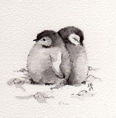 2 Little Penguin Chicks - wildsunart                                                                                                                                                                                 More