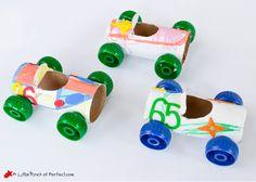 basteln mit klopapierrollen diy ideen deko ideen basteln mit kindern autos tinkering with paper towels diy ideas decorating ideas with kids cars Paper Towel Roll Crafts, Toilet Paper Roll Crafts, Diy Paper, Paper Towels, Paper Crafts For Kids, Crafts For Kids To Make, Paper Crafting, Toddler Crafts, Preschool Crafts