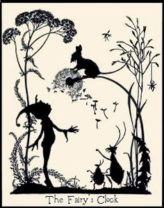Vintage Fairy Illustration--The Fairy's Clock