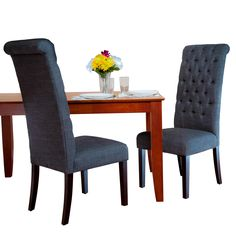 Home Loft Concept Tall Tufted Dining Chair (Set of 2)
