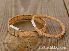 halbachblog I DIY Tutorial I Korkstoff Armband nähen I Kork I cork fabric I sewing I craft I selber machen I Schmuck