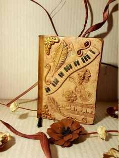 -Notebook Lined -Cover made of Fimo handmade -size: 15 cm x 10 cm Notebooks, Burlap, Reusable Tote Bags, Etsy, Music, Craft Gifts, Schmuck, Musica, Musik