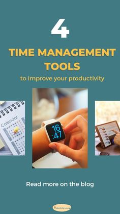 Time management is one of the most important pillars of productivity. When you improve your time management skills, you boost your productivity levels. Time management can be hard to master but trust me it becomes super easy if you have the right tools. In this blog post, I want to talk about 4 time management tools that will change your life. #timemanagement #pomodorotechnique Planning And Organizing, Planning Your Day, Self Development, Personal Development, Time Management Tools, Health Coach, Best Self, Life Skills, Productivity