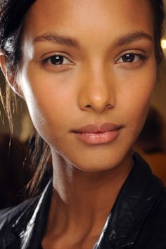 Lais Ribeiro backstage at Balmain Spring 2013