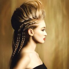 High fashion hairstyle