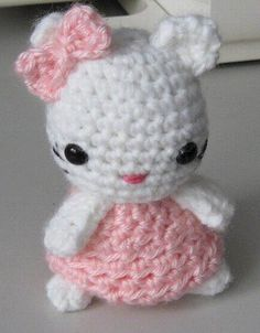 My pattern for my Hello Kitty Doll. Skill Level: Easy Materials: White Worsted Weight Yarn Pink Worsted Weight Yarn Size US-G/6mm Crochet Ho...