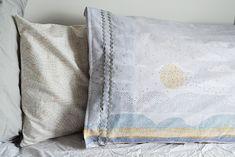 frankie exclusive diy: seascape pillowcase   frankie magazine
