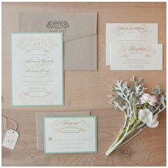 Romantic Wedding invitations #inspiredby #weddingideas #weddingcolors