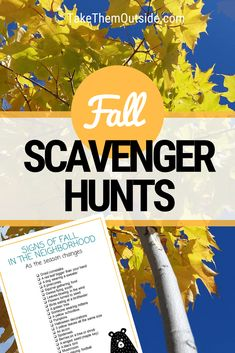 Are you looking for fun outdoor fall activities? Try these printable fall scavenger hunts. Young children and preschoolers will love to get out and search for fall treasures. | #fall  #scavengerhunts #fallactivity