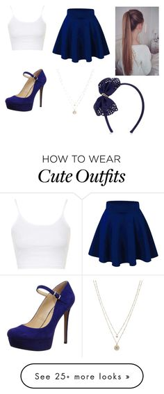 """a cute navy blue outfit"" by renalhdez on Polyvore featuring Topshop, Jessica Simpson, LC Lauren Conrad, Monsoon, women's clothing, women, female, woman, misses and juniors"