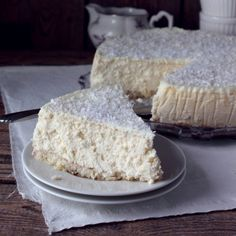 Coconut Cheesecake - very creamy and on a coconut bottom.