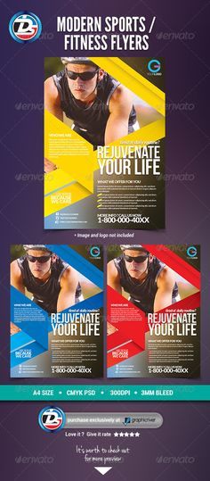 Sports \ Fitness Flyer Marketing \ Branding Pinterest - fitness flyer