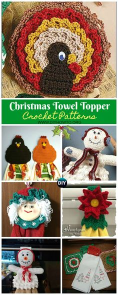 Crochet Patterns Funny Christmas Towel Topper Crochet Free Patterns via DIYHowTo Crochet Dolls Free Patterns, Christmas Crochet Patterns, Holiday Crochet, Crochet Gifts, Free Crochet, Funny Crochet, Irish Crochet, Knit Crochet, Christmas Towels