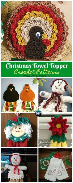 Crochet Patterns Funny Christmas Towel Topper Crochet Free Patterns via DIYHowTo Crochet Dolls Free Patterns, Christmas Crochet Patterns, Holiday Crochet, Crochet Gifts, Free Crochet, Funny Crochet, Irish Crochet, Knit Crochet, Crochet Dish Towels