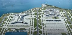 Hong Kong International Airport expansion with 3rd runway and a satellite