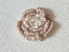 Bullion Knot Roses - Sarah Whittle: Contemporary Embroidery Artist
