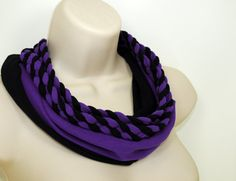 Braided Infinity Scarf Necklace Black and by ForgottenCotton, $25.00