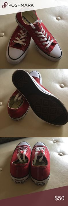 Converse All Star Brand new, never worn red Converse All Star, women size 8 Converse All Star Shoes Athletic Shoes
