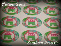 Preppy Republican Sticker by SouthernPrepCo on Etsy, $1.00