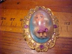 little kiddles dolls from the 1960s | VINTAGE 1960'S MATTEL TOY DOLL LITTLE KIDDLE LUCKY LOCKET CASE PURPLE ...
