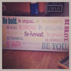 24x12 Canvas Word Art Be you Typography Wall Art by redbarncanvas, $55.00