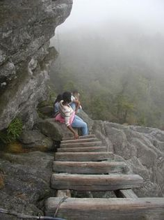 Grandfather Mountain State Park - ladders & ropes trail