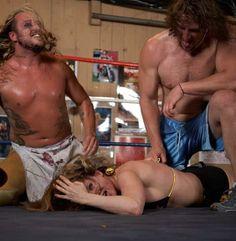 Vanessa Harding in brutal mixed wrestling action