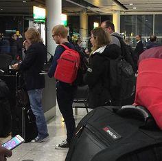 Ed at Heathrow airport on Sunday