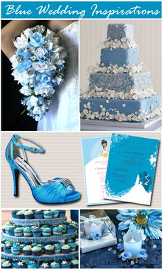 Scuba Blue Wedding   http://www.storkie.com/blog/wp-content/uploads/2010/01/blue-wedding-inspirations-collage1.jpg