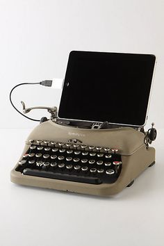 The feel of an old school typewriter combined with today's technology. Brilliant.