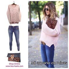 Hola chicas!Hoy os presentamos una combinación infalible: Jersey de pelo vaqueros y bolso animal print,outfit genial para un estupendo día como hoy,para ir de compras,a trabajar o tomar un café con tus amig@s.Todos los productos en: www.ties-heels.com #tiesheels #shop #shoponline #instagood #instamoda #instafashion #moda #look #fashion #follow #bloggers #leopard #new #jeans #bag