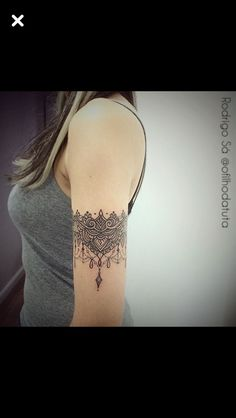 ideas for tattoo arm band lace ink Armband Tattoos, Arm Tattoos, S Tattoo, Body Art Tattoos, Sleeve Tattoos, Tatoos, Henna Arm Tattoo, Jagua Tattoo, Bicep Tattoo