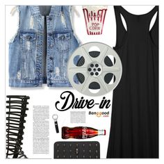 """Summer Date: The Drive-In(banggood 5)"" by meyli-meyli ❤ liked on Polyvore featuring OPI, DateNight, BangGood, fashionset, drivein and summerdate"