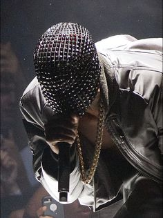 e7b8584a #viaGlamour Yeezus Tour, Kanye West Yeezus, Kanye West Mask, Leather  Jogging Pants