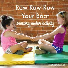 FUN SENSORY ACTIVITIES - ROW ROW ROW YOUR BOAT