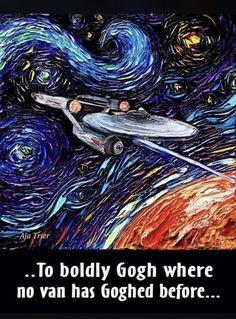 Star Trek by Van Gogh...
