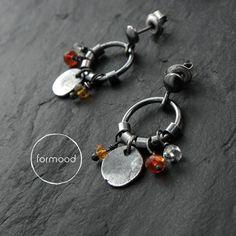 FORMOOD - meksykański opal ognisty - kolczyki