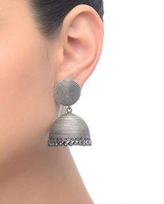 Junk Silver Jhumka Earrings