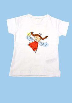 t-shirt fatina, dipinta con tecnica del telaio clubdeipoccoliartisti@yahoo.it Fb: clubdeipiccoliartisti