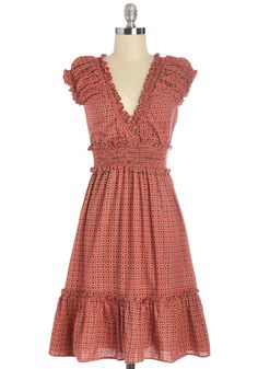 Back to Square One Dress. A basic rule of your style is setting a trusty foundation for your look, and this dress by Mara Traders is the perfect piece to help you out! #orange #modcloth