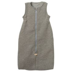 Organic Boiled Wool and Organic Cotton Sleeping Bag in Grey from Disana - Made in Germany (22110)