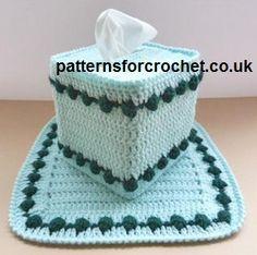 Free crochet pattern centre piece & tissue box cover USA