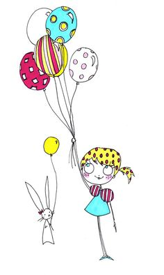 Sophie's Balloons  // 5x7 print by bunniesandbows on Etsy, $12.00