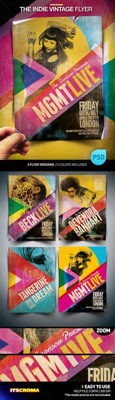 Vintage flyer template by Croma
