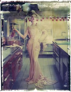 Haute Couture: The Polaroids of Cathleen Naundorf | sleek mag. Love the top of this photo where the emulsion is rippled.