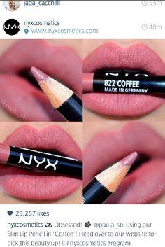 Nyx cosmetics lip pencil in coffee ♡